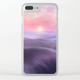 Minimal abstract landscape III Clear iPhone Case