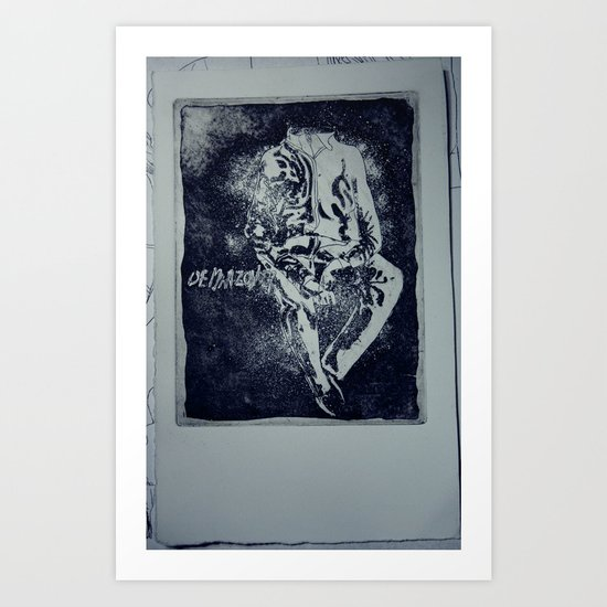 A man without Art Print