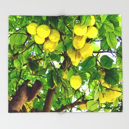 when life gives you lemons... Throw Blanket