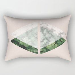 Geometric Triangles   Tropical and Marble Rectangular Pillow