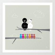The Happy Family Art Print