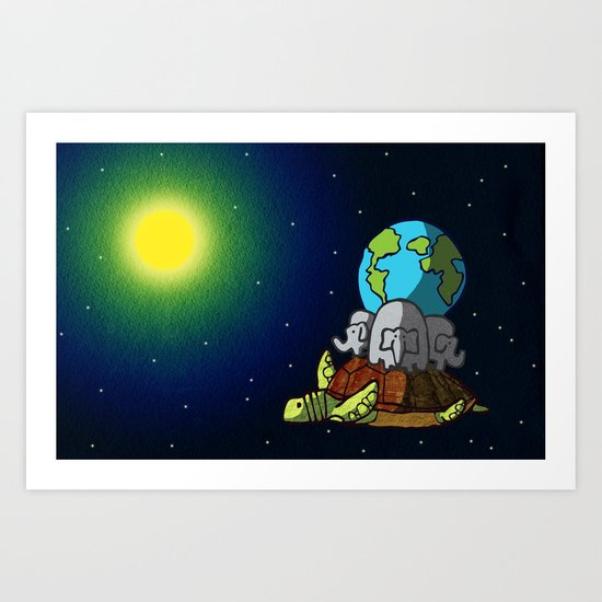 New Turtle Theory Art Print