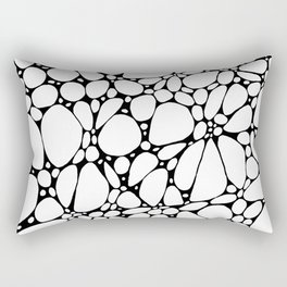 White Floating Blobs Rectangular Pillow