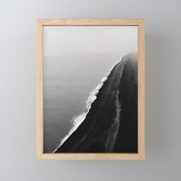 BLACK SAND BEACH Framed Mini Art Print