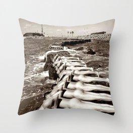 Water Boys Throw Pillow