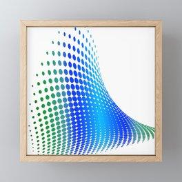 Glitch in the Dot Matrix (Blue) Framed Mini Art Print