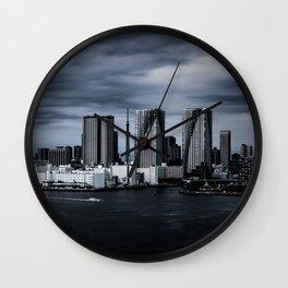 Turbulent Tokyo Wall Clock