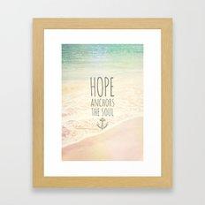 ANCHOR OF HOPE Framed Art Print