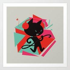 Air Cat Art Print