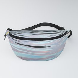 Pink, Lavender, and Blue Water Abstract Fanny Pack