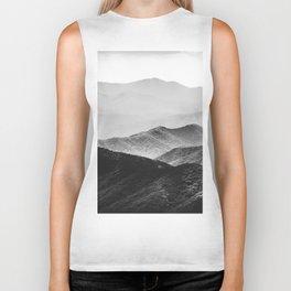 Glimpse - Black and White Mountains Landscape Nature Photography Biker Tank