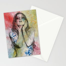 The Withering Spring II | nude tattoo woman portrait Stationery Cards