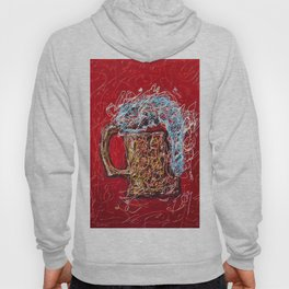 Abstract Beer - Inspired By Pollock  #society6 #wallart #buyart by Lena Owens @OLena Art Hoody
