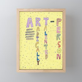 An Art Person Framed Mini Art Print