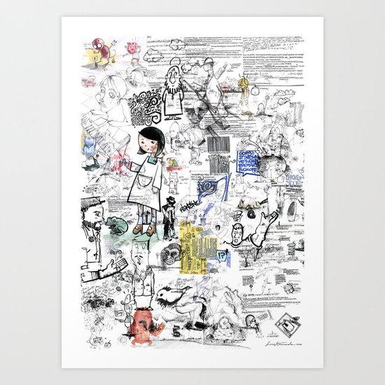 Sketches Art Print