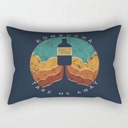 "KOMBUCHA ""Take Me Away"" Rocket // Mushroom Tea Graphic Design Scoby Health Drink Bubble Scooby Rectangular Pillow"