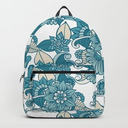 Blue Foral Graden Backpack