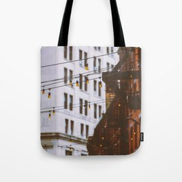 New York City Buildings and Lights (Color) Tote Bag