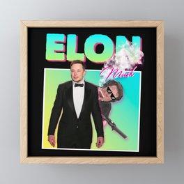 Elon Musk 80s Meme Framed Mini Art Print