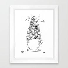 Teacup City Framed Art Print