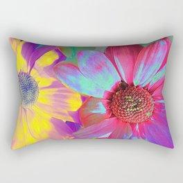 Spring Floral Abstract Rectangular Pillow