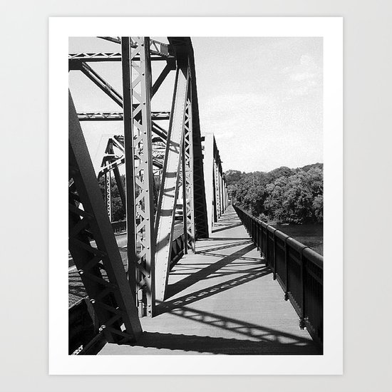 Delaware Bridge Art Print