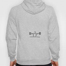 weightlifters exercise with dumb-bells weight lifting Hoody