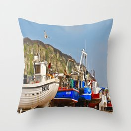 Fisherman's Beach Throw Pillow
