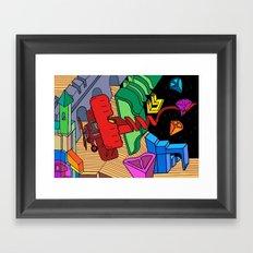 Flying Solo Framed Art Print