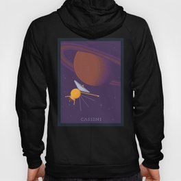 Cassini and Saturn (Grand Finale Poster) Hoody