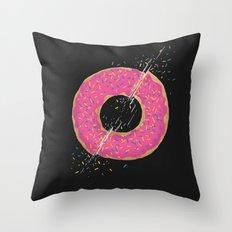 Donut Slices Throw Pillow