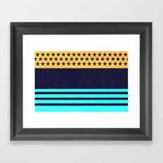 My US Flag & Jeans Framed Art Print