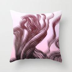 hair (3) Throw Pillow