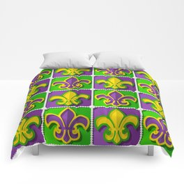 Mardi Gras  pattern Comforters