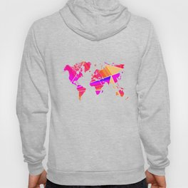 Reflections world map Hoody