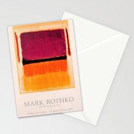 Mark Rothko Exhibition poster 1979 Stationery Cards