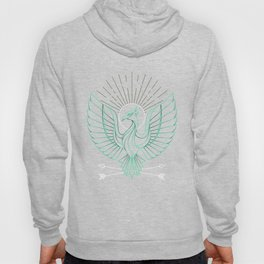 Cool Thin Line Phoenix Drawing Hoody