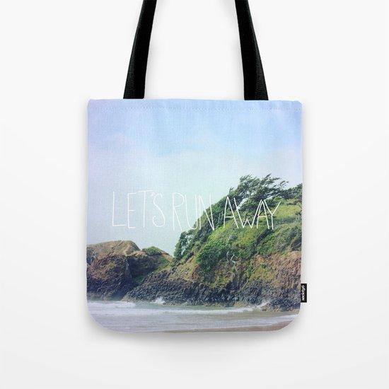Let's Run Away: Cannon Beach, Oregon Tote Bag