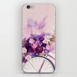 Vintag Bicycle and Flowers iPhone Skin