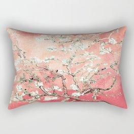 Van Gogh Almond Blossoms : Peach Rectangular Pillow