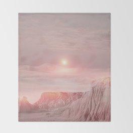 Pastel desert Throw Blanket