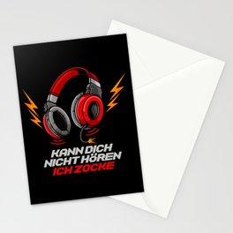 Kann dich nicht hören - Ich zocke - Gaming Gamer Stationery Cards