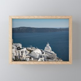 Thira, Santorini, Greece Framed Mini Art Print