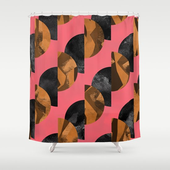 gold,black Shower Curtain