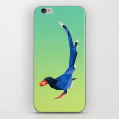 Low-poly blue bird iPhone & iPod Skin