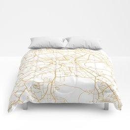 EDINBURGH SCOTLAND CITY STREET MAP ART Comforters