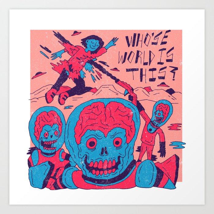 Mars Attacks X Nas Art Print
