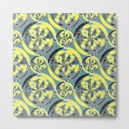 Black and yellow pattern Metal Print