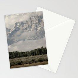 Dwarfed by Mountains Stationery Cards