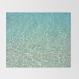 Colors of the Sea Water - Clear Turquoise Throw Blanket